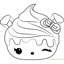 Cherry Cheesecake Free Coloring Page for Kids