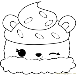 Connie Confetti Free Coloring Page for Kids