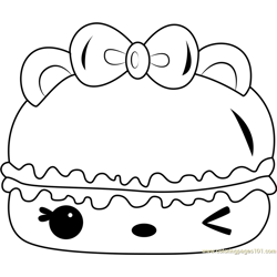 Cotton Candy Gloss-Up Free Coloring Page for Kids