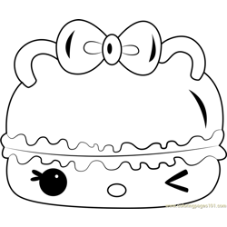 Cucumber Gloss-Up Free Coloring Page for Kids