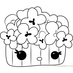 Momma Corn Free Coloring Page for Kids