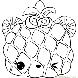 Piney Apple Free Coloring Page for Kids