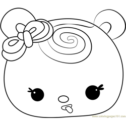 Sweetie Strawberry Free Coloring Page for Kids
