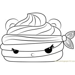Wasabi Go-Go Free Coloring Page for Kids
