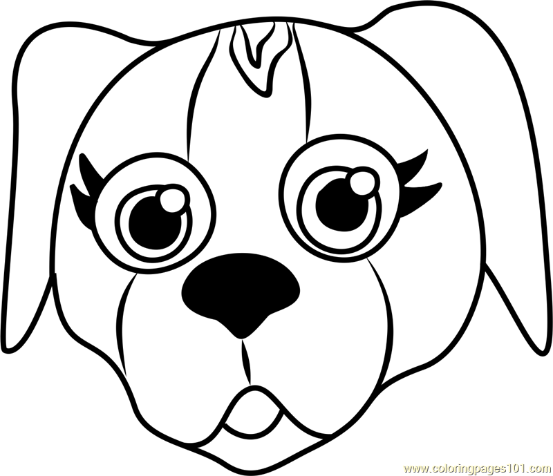 beagle puppy face coloring page