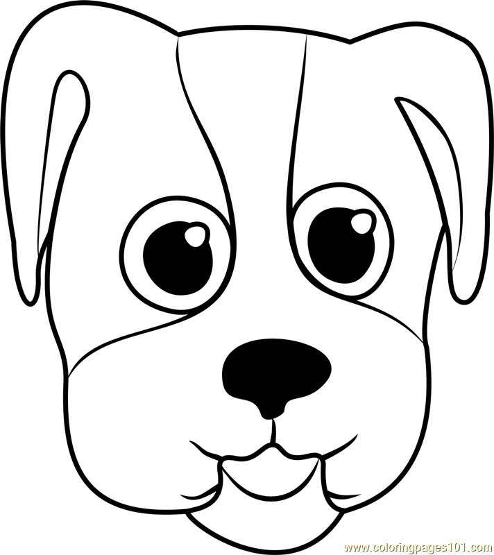 Bulldog Puppy Face Coloring Page