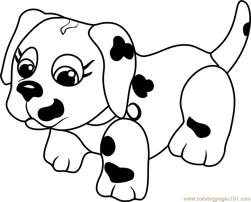 Dalmatian Coloring Page - Free Pet Parade Coloring Pages ...