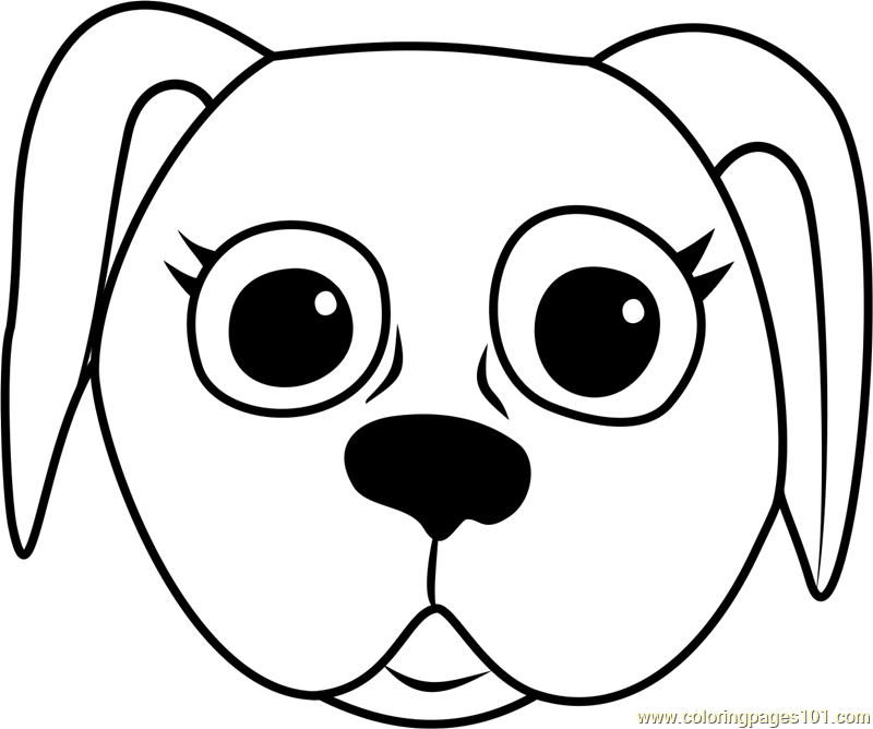 Danish Pointer Puppy Face Coloring Page Free Pet Parade