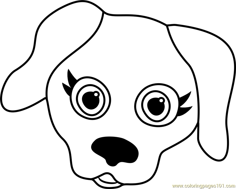 labrador puppy face coloring page