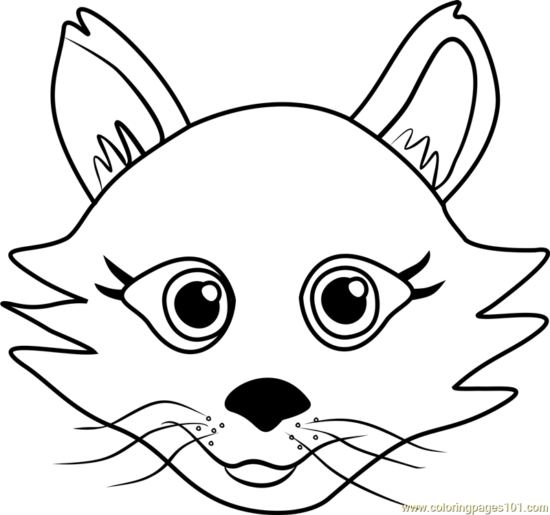 persian puppy face coloring page