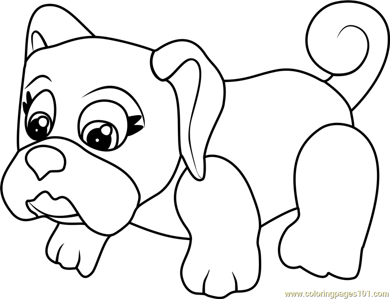 Pug Coloring Pages Printable - Coloring Home | 613x800