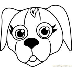 Beagle Puppy Face Free Coloring Page for Kids