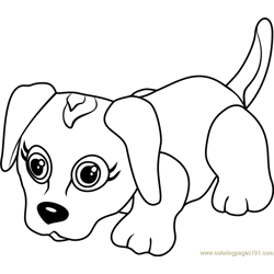 Beagle Free Coloring Page for Kids