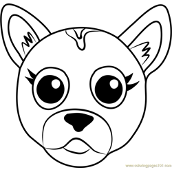 German Shepherd Puppy Face Free Coloring Page for Kids