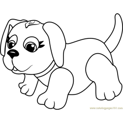 Husky Free Coloring Page for Kids