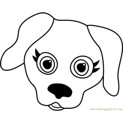 Labrador Puppy Face Free Coloring Page for Kids