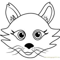 Persian Puppy Face Free Coloring Page for Kids