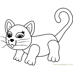 Siamese Free Coloring Page for Kids