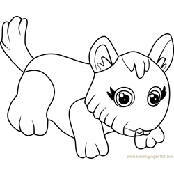 West Highland Terrier Free Coloring Page for Kids