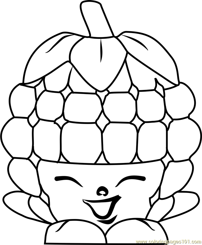 Asbury Raspberry Shopkins Coloring Page Free Shopkins