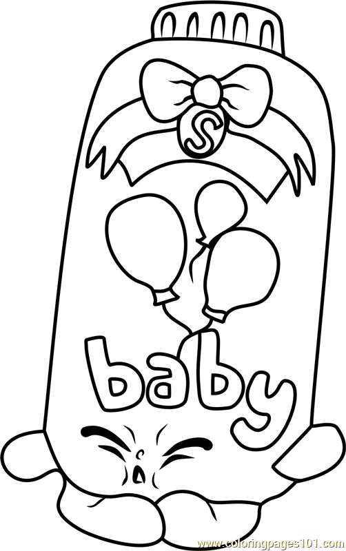 Baby Puff Shopkins Coloring Page