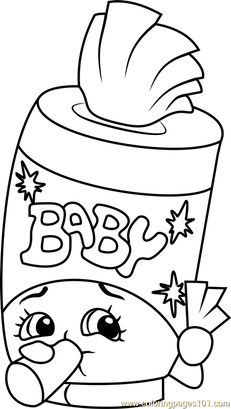 Baby Swipes Shopkins Coloring Page Free Shopkins