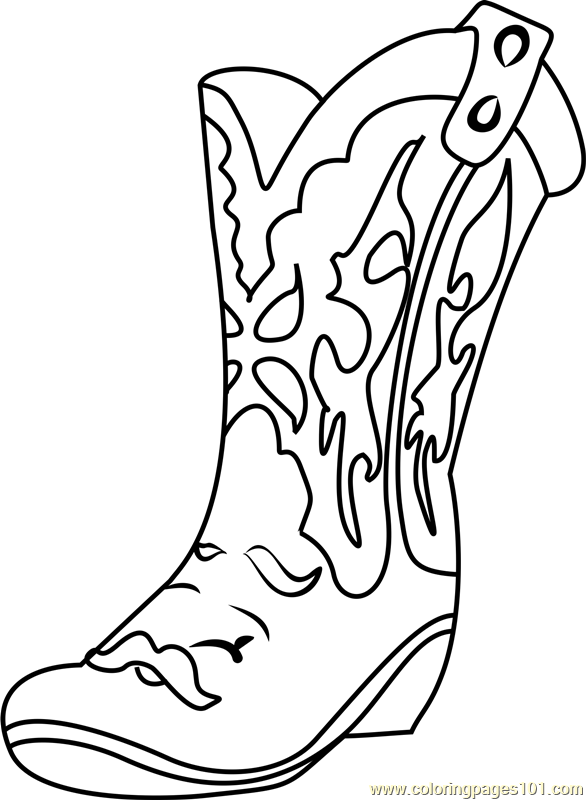 Betty Boot Shopkins Coloring Page