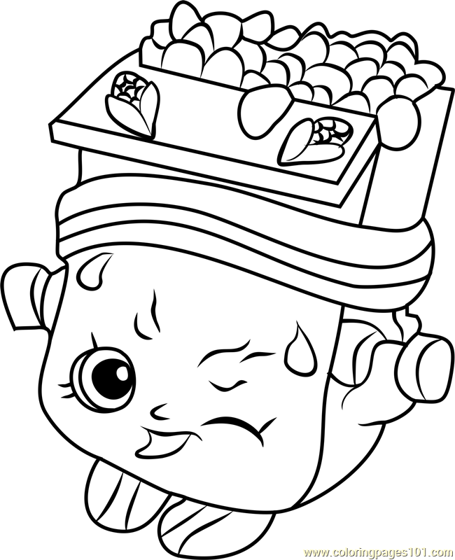 Breaky crunch shopkins coloring page