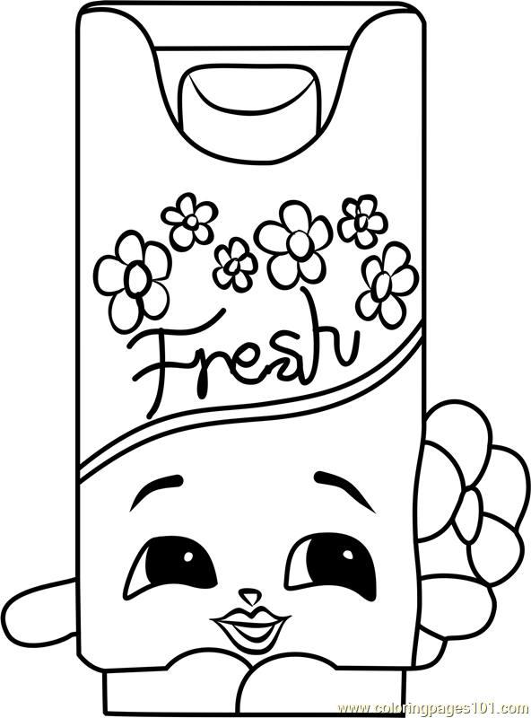 Bree Freshner Shopkins Coloring Page