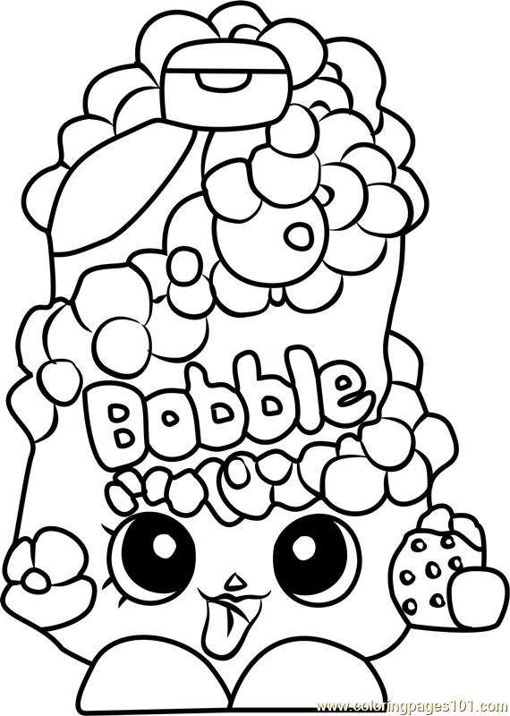 Free Color Pages Shopkins Bubble Tubs Coloring Page