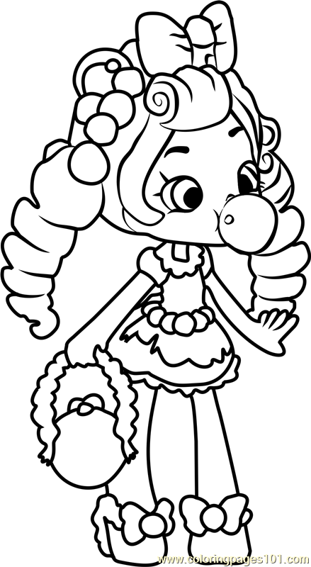 Bubbleisha Shopkins Coloring Page