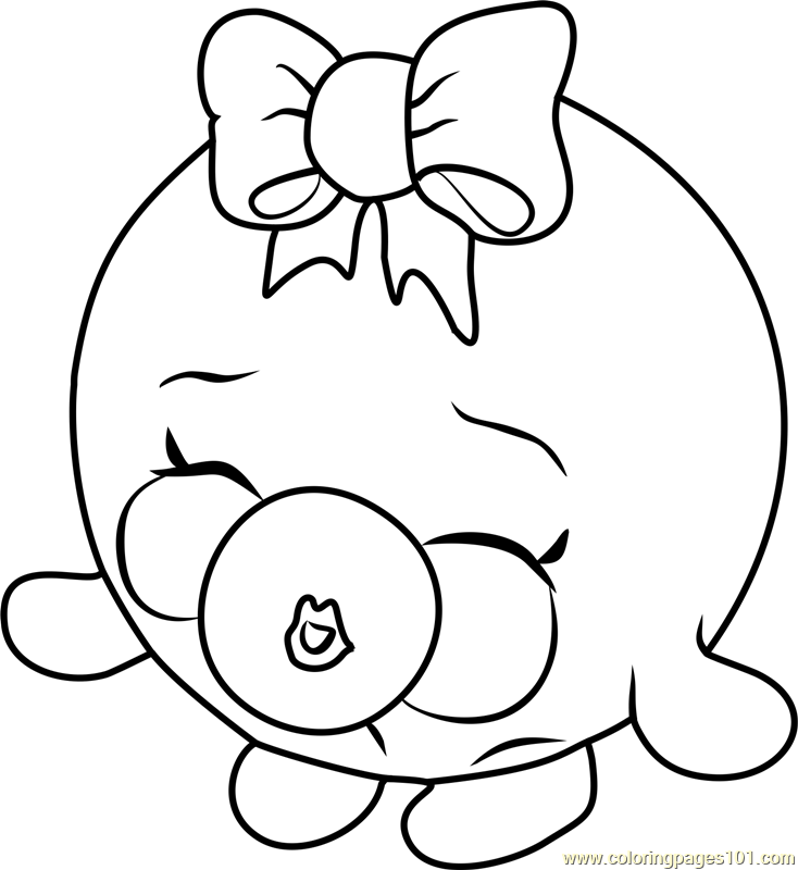 Bubbles Shopkins Coloring Page