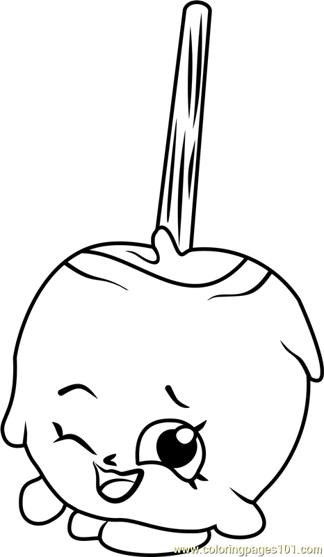Candy Apple Shopkins Coloring Page