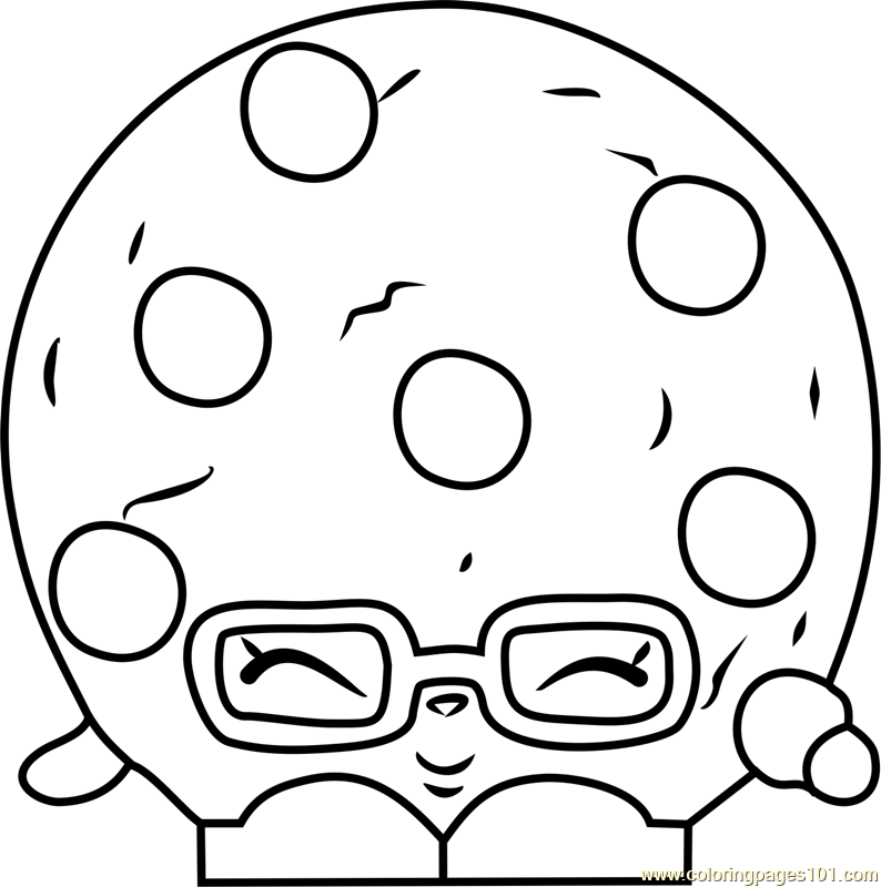 Candy Cookie Shopkins Coloring Page