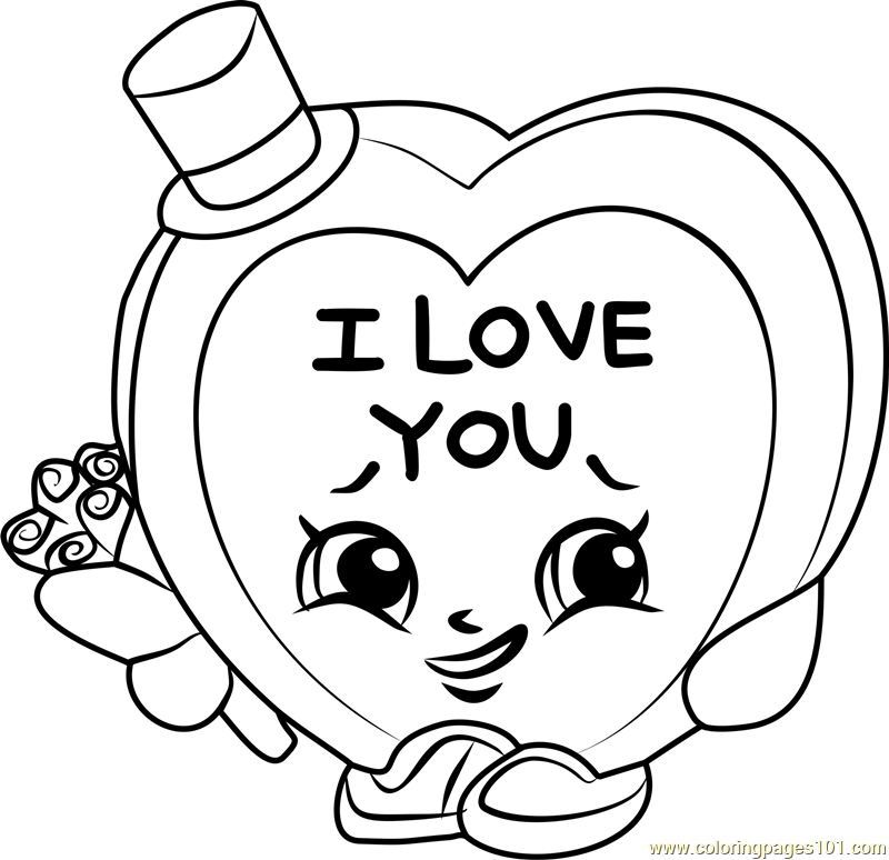 candy kisses shopkins coloring page