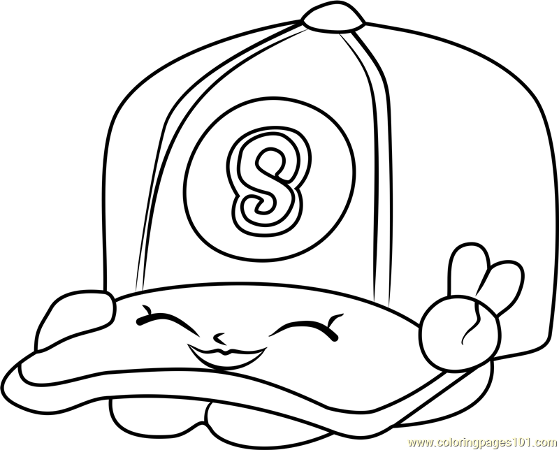 Casper Cap Shopkins Coloring Page Free Shopkins Coloring