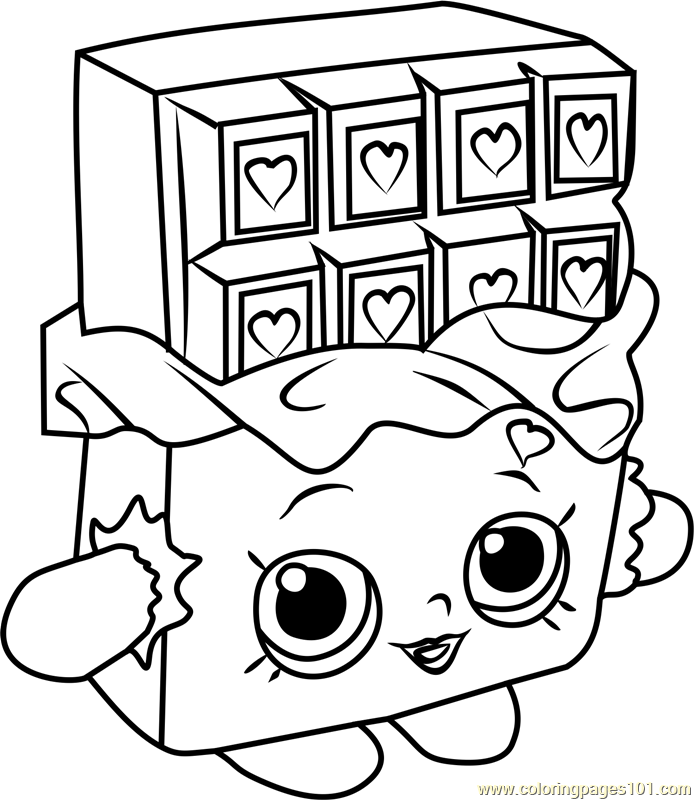 Cheeky Chocolate Shopkins Coloring Page