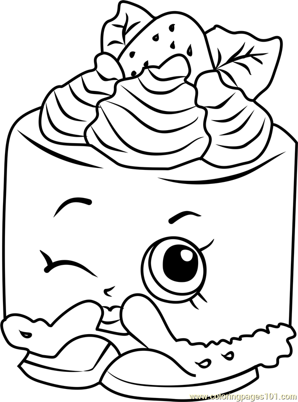 Cheese Louise Shopkins Coloring Page
