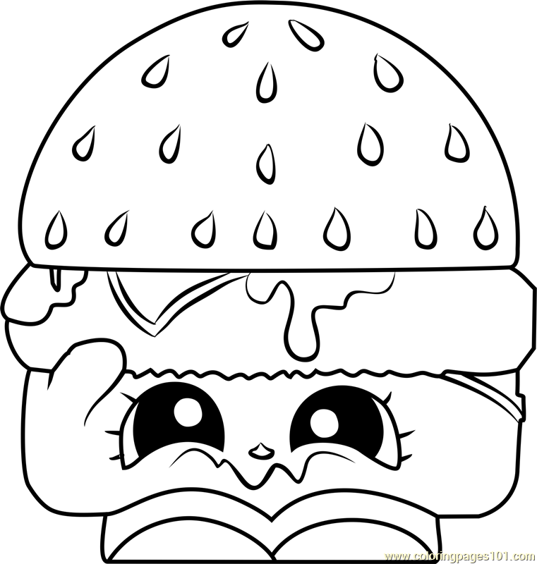 Cheezey B Shopkins Coloring Page Free Shopkins Coloring Pages