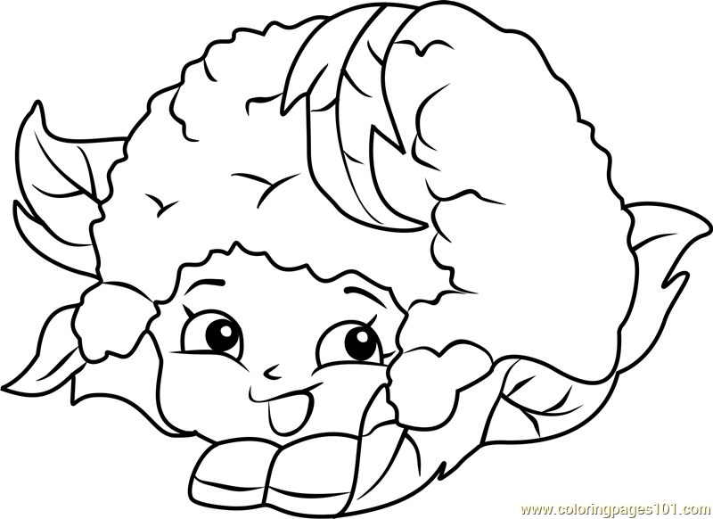 Chloe Flower Shopkins Coloring Page Free Shopkins
