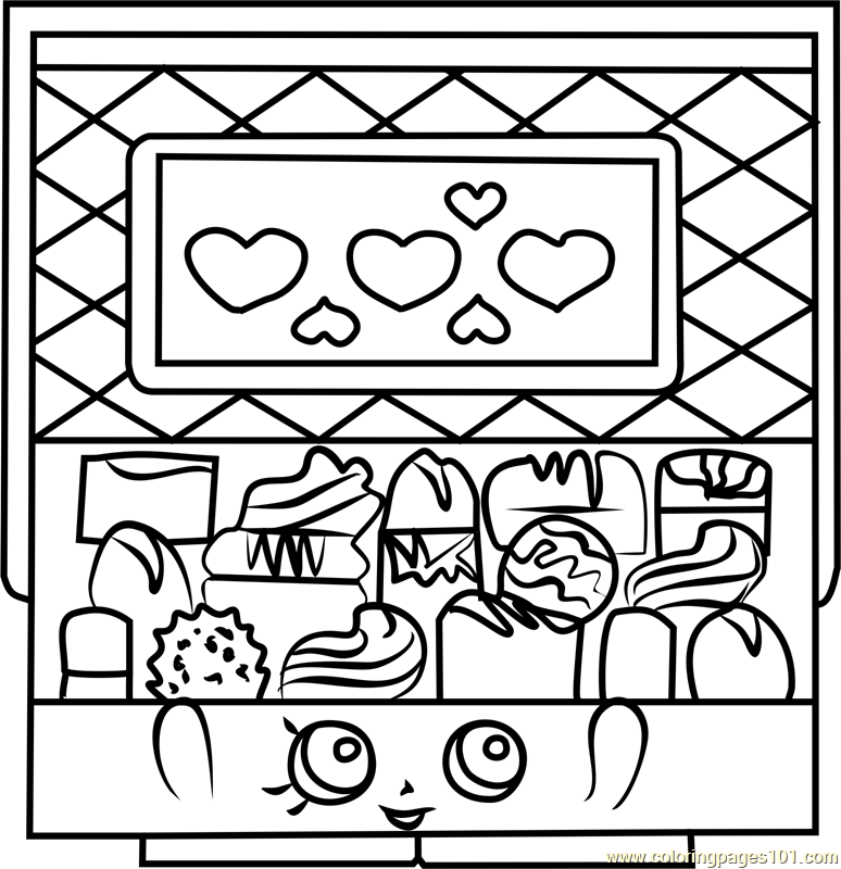 Chocky Box Shopkins Coloring Page