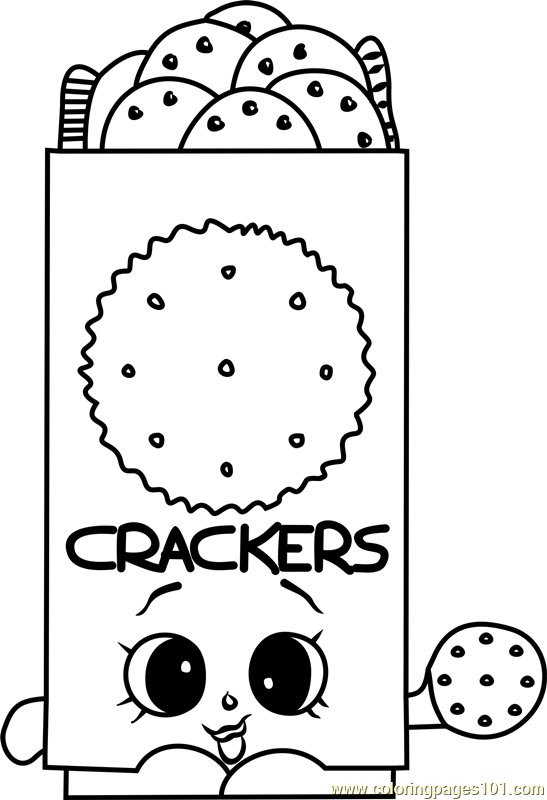 Chris P Crackers Shopkins Coloring Page