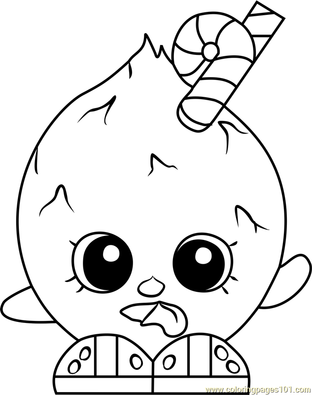 Coco Nutty Shopkins Coloring Page