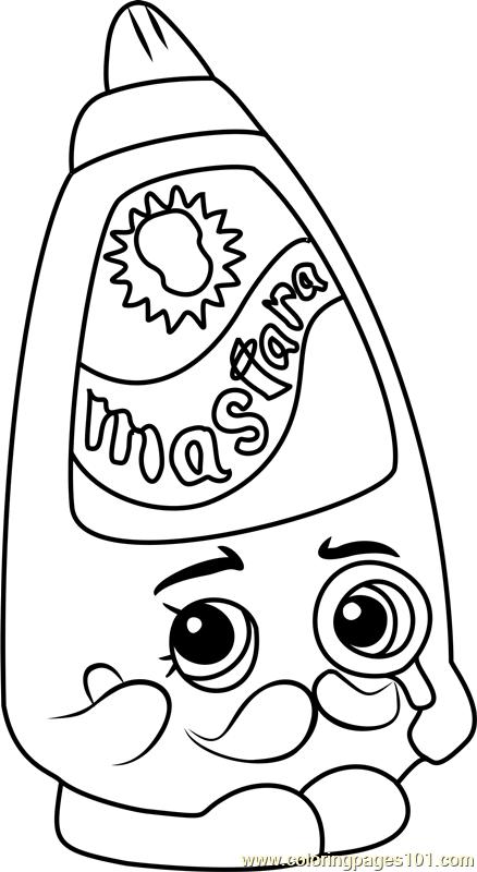 Cornell Mustard Shopkins Coloring Page Free Shopkins