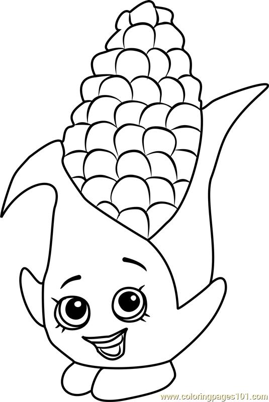 Corny Cob Shopkins Coloring Page