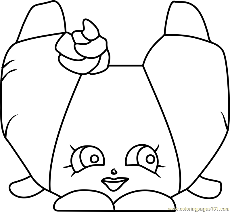 croissant d u0026 39 or shopkins coloring page