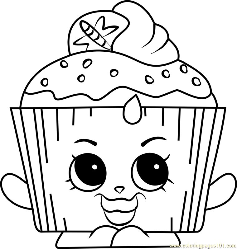 Cupcake Chic Shopkins Coloring Page - Free Shopkins ...