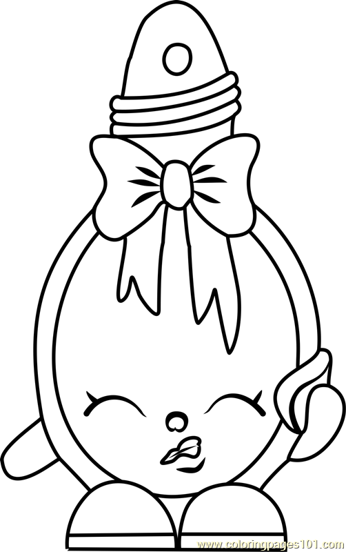 Curly Shopkins Coloring Page