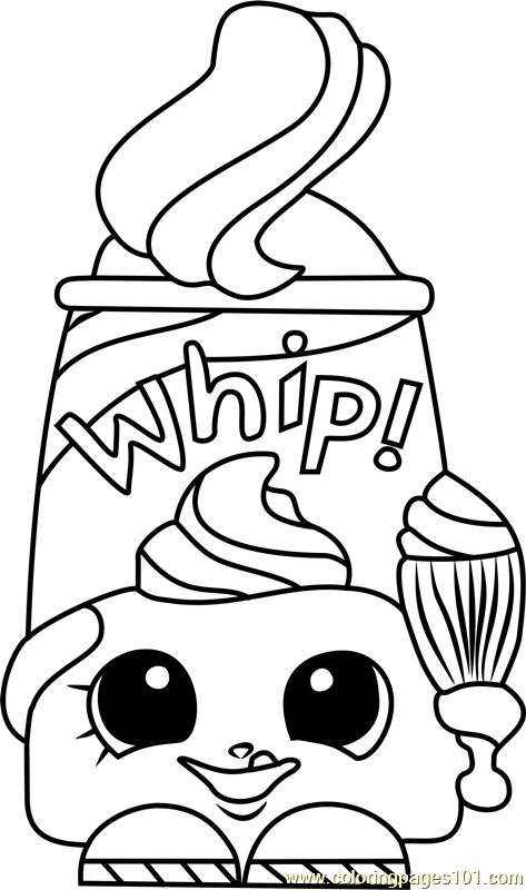Dollops Shopkins Coloring Page