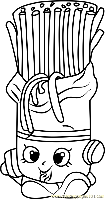 pasta coloring pages | Fasta Pasta Shopkins Coloring Page - Free Shopkins ...